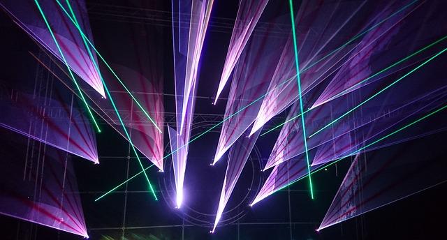 světelná show s lasery