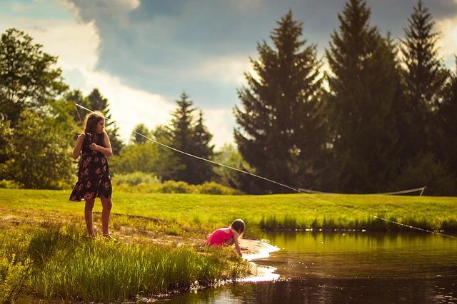 holky při rybaření