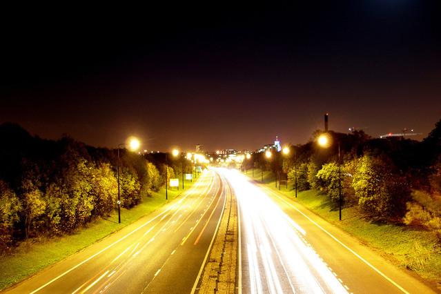 příměstský dálniční provoz