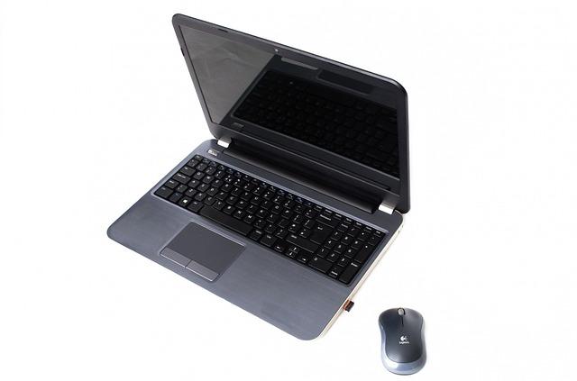 notebook s myší